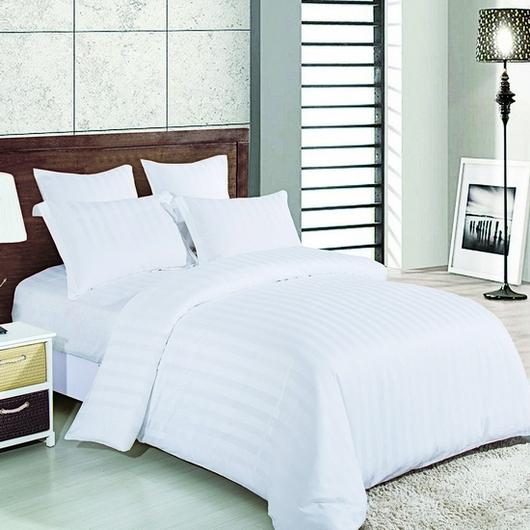 619526199f65 ... гостиниц»Комплект постельного белья Страйп-сатин белый. Страйп сатин  белый