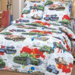 Комплект постельного белья «Танки» - 1-5-spalnyj
