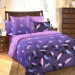 Комплект постельного белья «Дуновение сиреневый» - 1-5-spalnyj