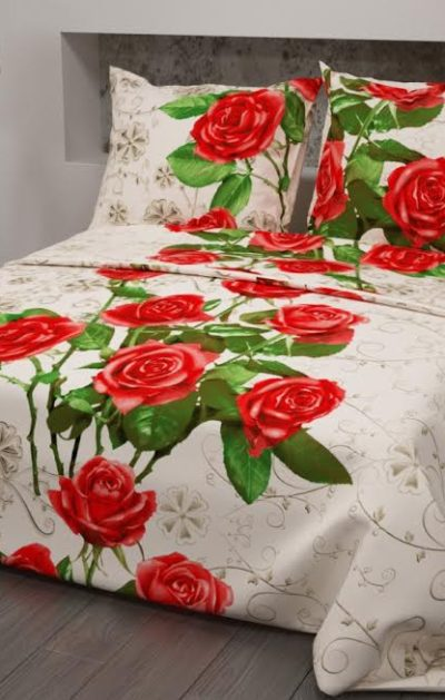 362-7 Розы на бежевом