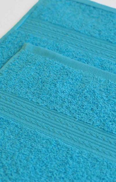 Махровое полотенце цвет Бирюзовый
