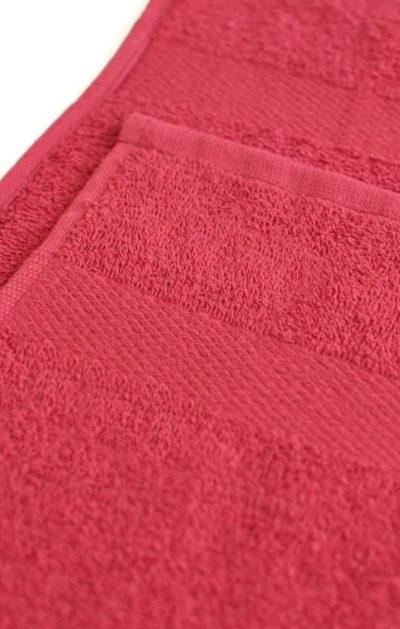 Махровое полотенце цвет Бордовый