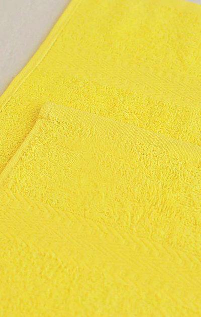 Махровое полотенце цвет Лимонный