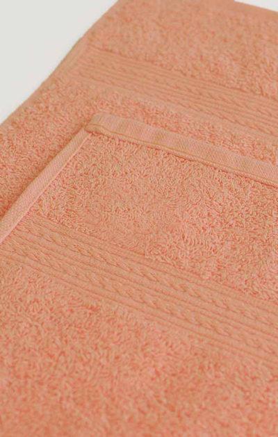 Махровое полотенце цвет Персиковый