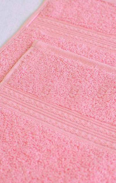 Махровое полотенце цвет Светло-розовый