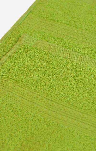 Махровое полотенце цвет Зеленый